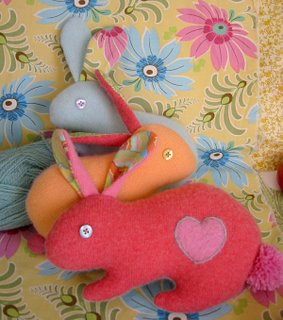 Coelhinhos de feltro - molde