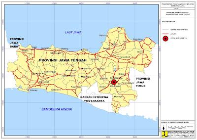 Peta Orientasi Kota Surakarta Dalam Provinsi Jawa Tengah