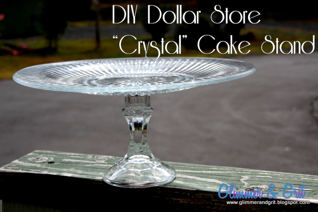 Glimmer And Grit Diy Dollar Store Quot Crystal Quot Cake Stand