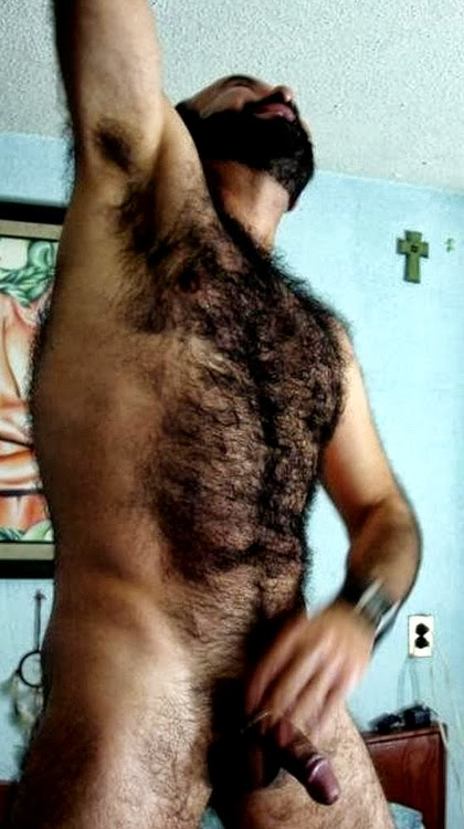Young very hairy chested men are