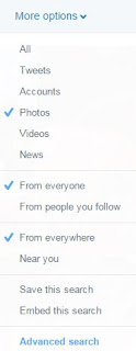 Twitter Search More Options Drop Down Menu