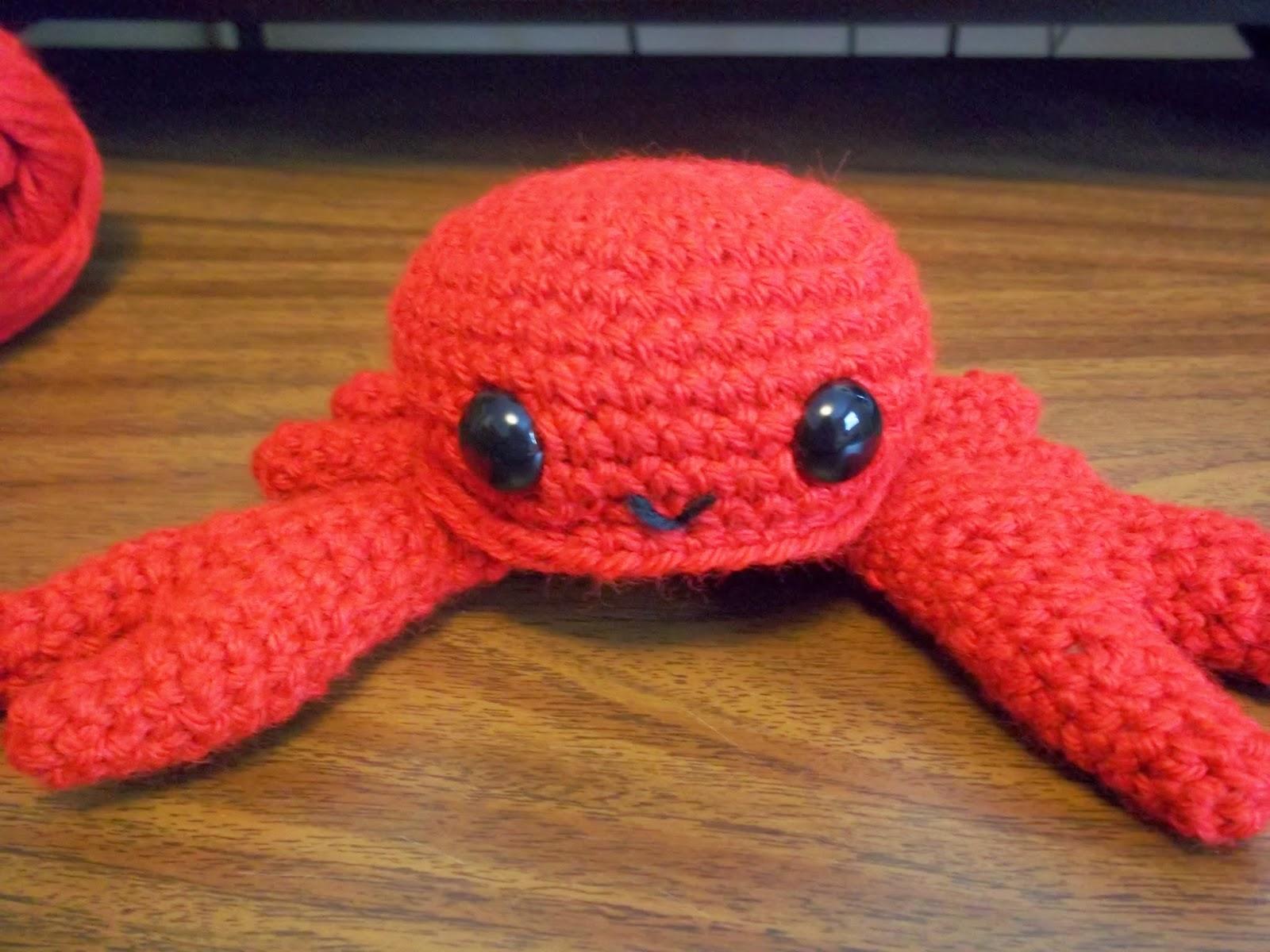 Eden is only a dream away: Crochet Crab Amigurumi Pattern