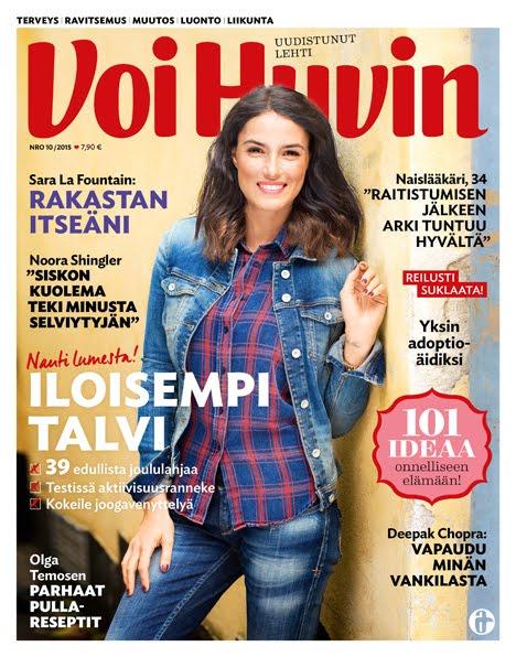 Jouluttelijasta juttu Voi Hyvin 10/2015 lehdessä.