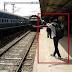 funny guy on railway station