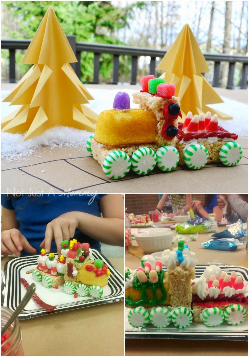 Tuesday Tutorial - No Bake Christmas Trains   Not Just A Mommy