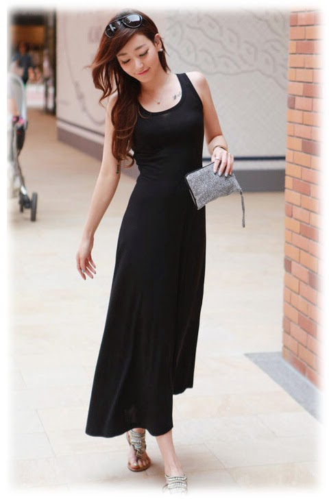 Model Longdress Korea untuk Pesta Bahan Sifon
