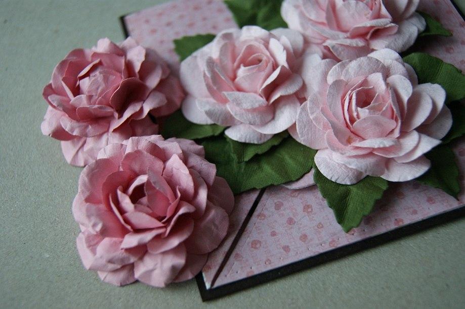 Розы для скрапбукинга своими руками 47