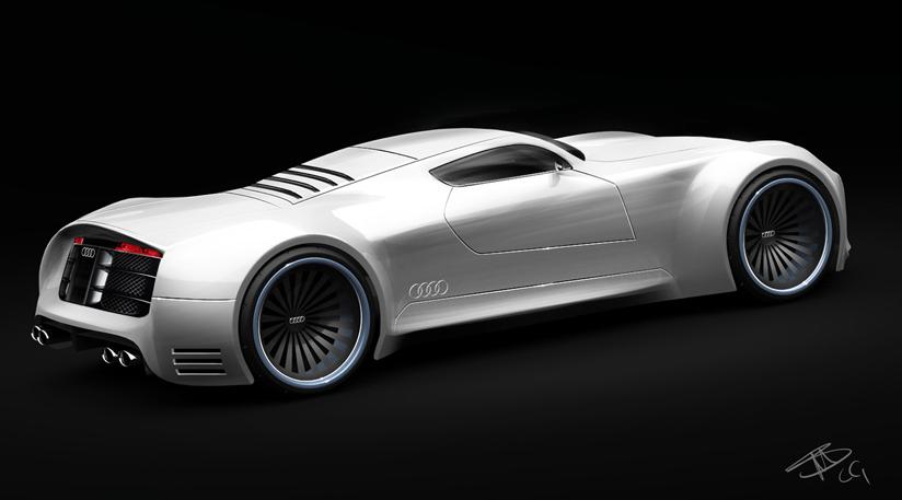 Audi r10 supercar facelfit concept study garage car for Garage concept auto