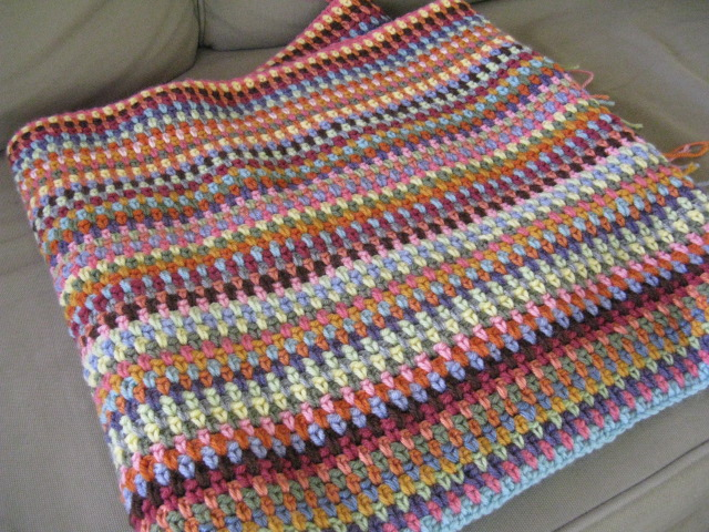 Crochet Moss Stitch : ... Cactus Needle Quilts, Fabric and More: Moss Stitch Crocheted Afghan