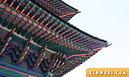korea seoul gyeongbukgung roof