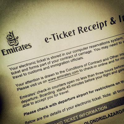 Emirates ticket