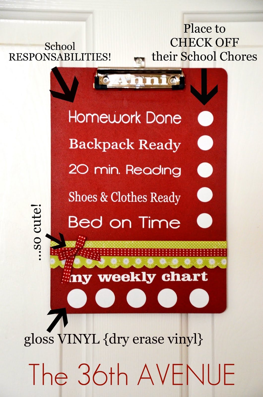 Back to school dry erase clip board the 36th avenue back to school dry erase charts at the36thavenue awesome idea for kids geenschuldenfo Choice Image