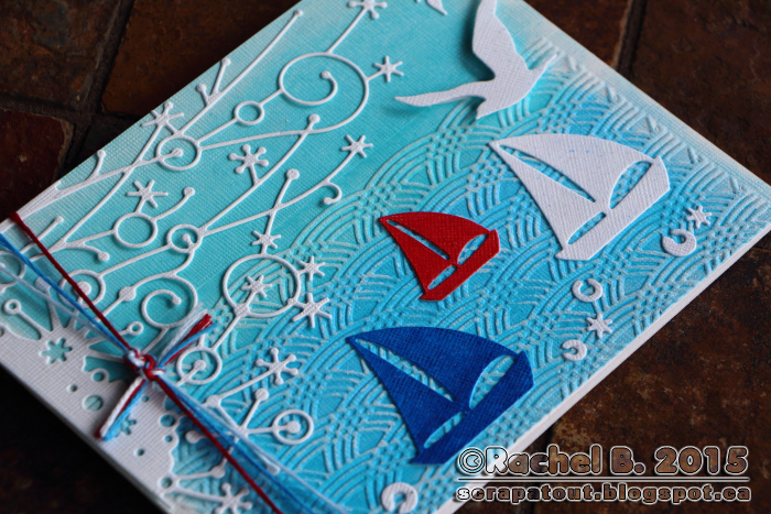 Handmade Nautical Card Memory Box IO