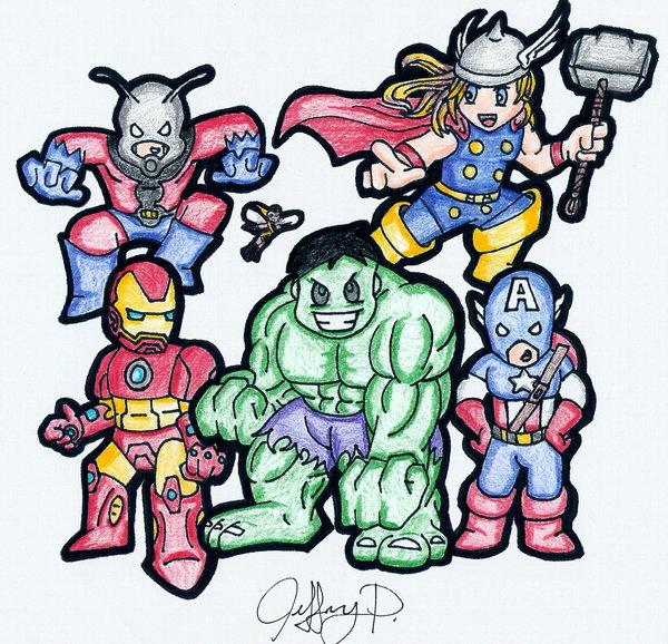 Avengers Chibi por McSick0