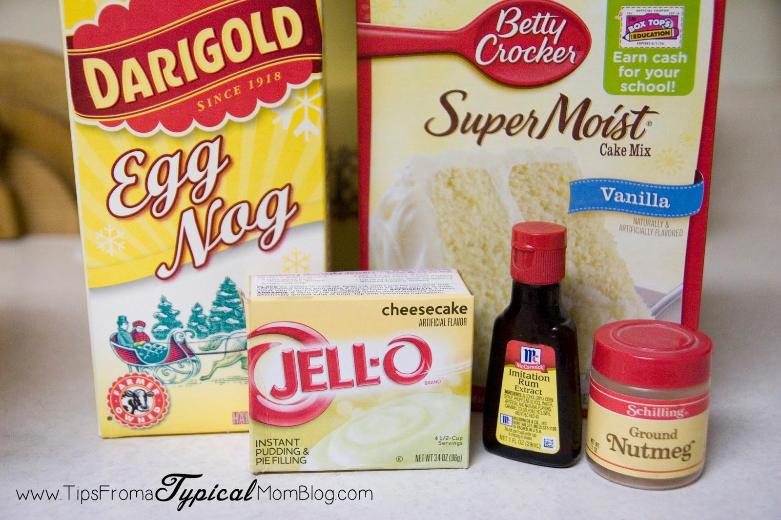 Eggnog Cupcake Recipe Using Cake Mix