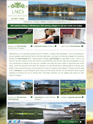 Picture of the windermere lake district cottages landing page
