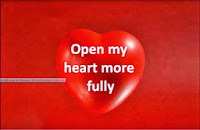 Heart with open my heart more fully written on it