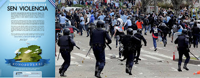 Disturbios en el partido entre Celta y Deportivo en Vigo en abril de 2012