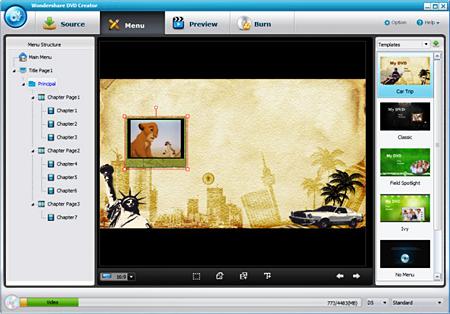 Wondershare DVD Creator v3.0.0.13 + Templaes