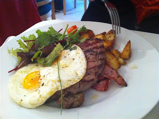 Stitch and Bear - Steak and eggs at 161 Cafe & Bistro