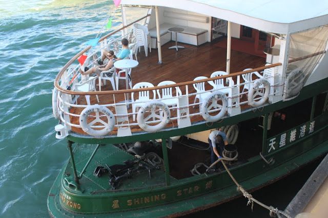 The front view of Star Ferry Tour Cruise which looks identical to the typical Star Ferry in Hong Kong