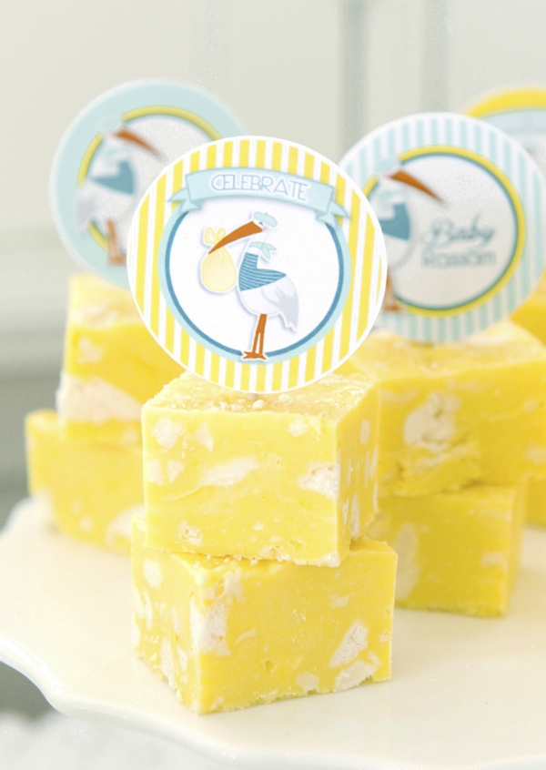recipes she created for the baby shower desserts table she styled for