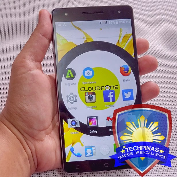 TechPinas Badge of Excellence, CloudFone Thrill 600FHD