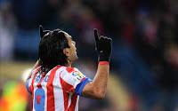 Falcao celebra uno de los cinco goles