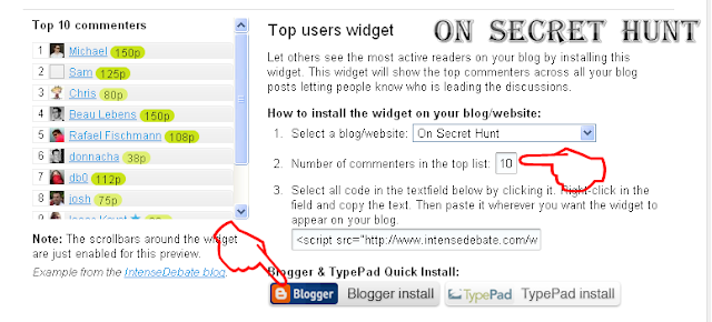 IntenseDebate+ +Extras2 How To Add IntenseDebate Top Commentator Widget In Your Blogger Blog