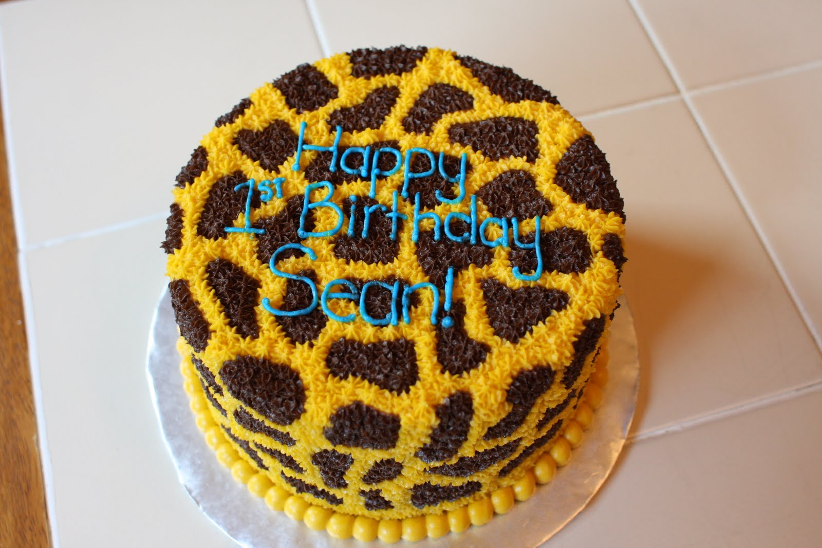 The Buttercream Bakery Giraffe Print 1st Birthday Cakes