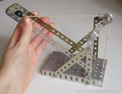 игрушка катапульта модель