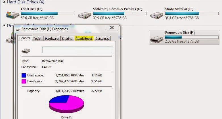 how to use thumb drive as ram