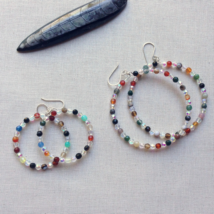 I Love These Hoop Earrings Have So Many Piles Of Beads That Am Dying To Try This With