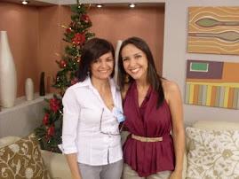 Eu e a apresentadora Tatiane.