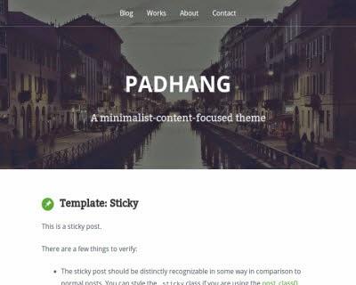 Padhang WordPress Theme
