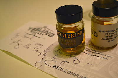 Tasting two whiskeys from The Teeling Whiskey Company!