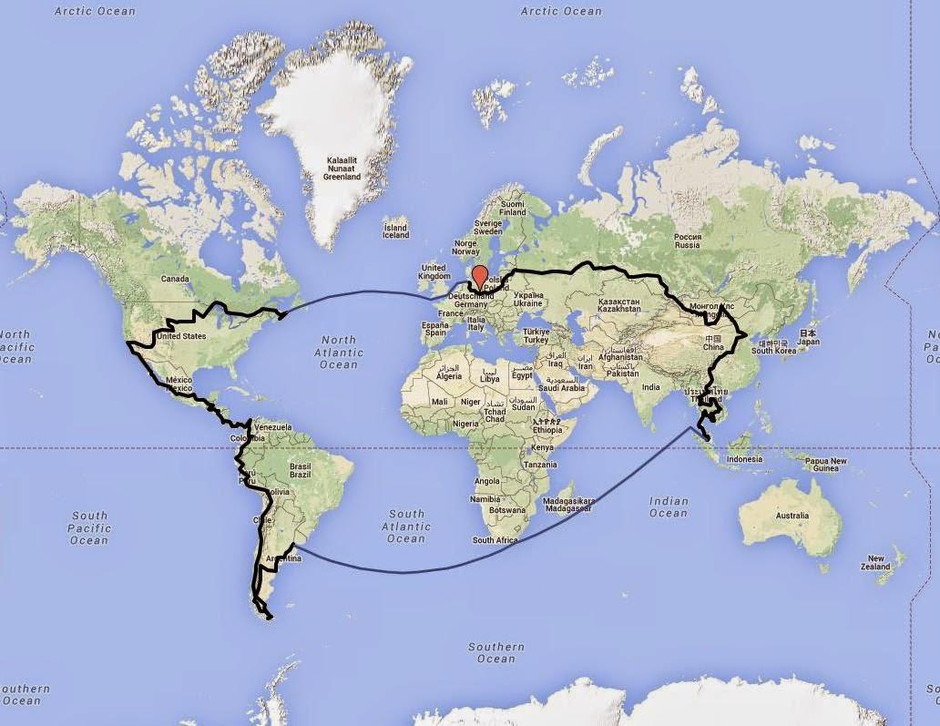Herr Lehmanns Weltreise - die genaue Route
