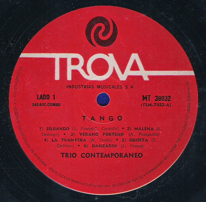 Trio Contemporaneo - Tango (1969)