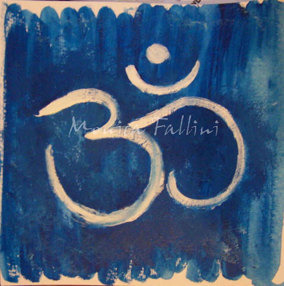 Om Symbol Acrylic Painting Fine Art Spiritual Yoga