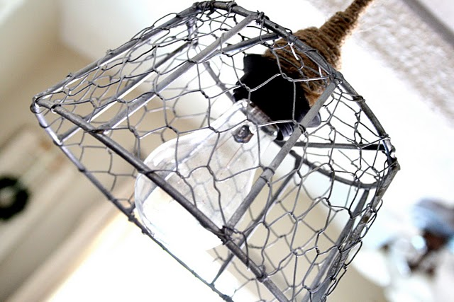 LET\'S STAY: Chicken Wire Glass Light Fixtures