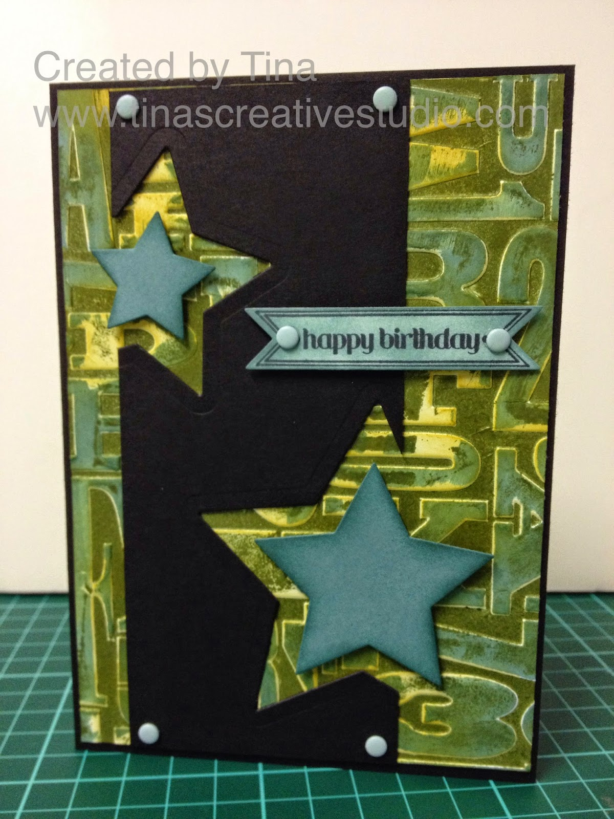 alphabet letterpress star card www.tinascreativestudio.com