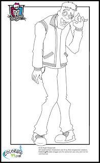 monster high boys moe slow moe deadovitch coloring pages
