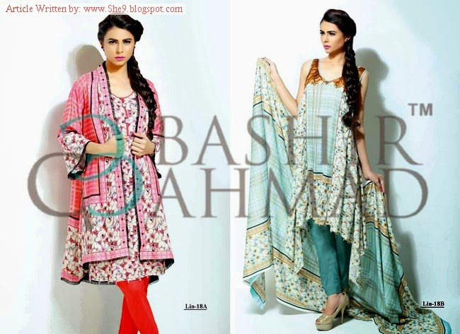 Linen Dresses of Bashir Ahmed in Winter Fall 2014
