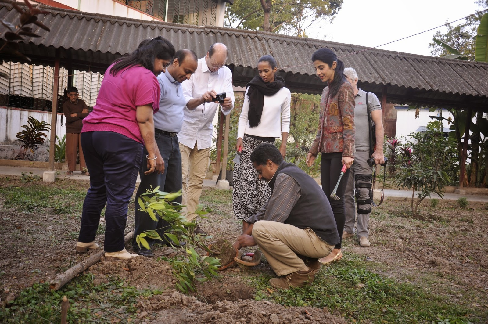 Tej Patta is used in Indian cooking. Philipp and Sara Schoeller, Walter and Delphine Raizner planting a bay leaf trees