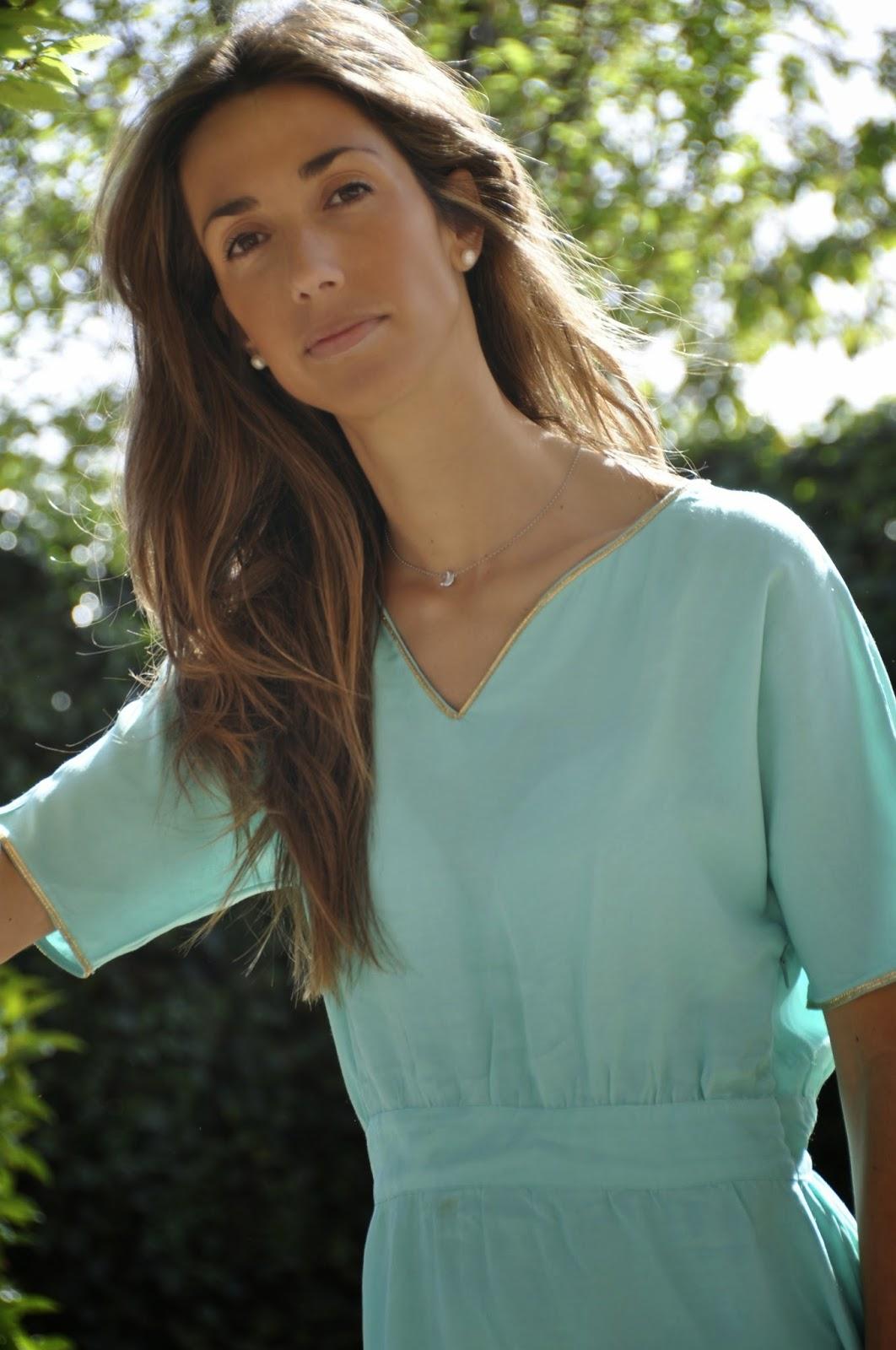 Vestido Sara,Magnolia Trendy,verde agua