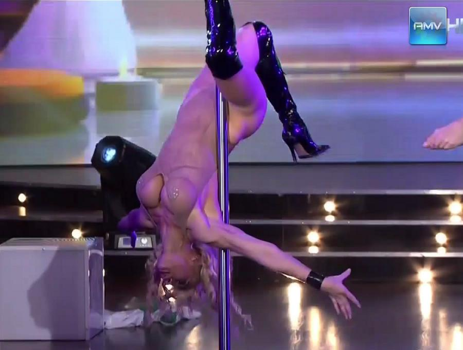from Grey sexy acrobatic pole dance