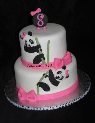 Tarta con osos panda