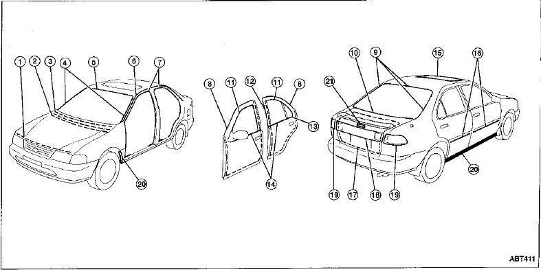repair manuals nissan sentra b14 1996 repair manual. Black Bedroom Furniture Sets. Home Design Ideas