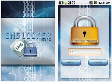 Cara Memberi password SMS, Kontak, Aplikasi di Android