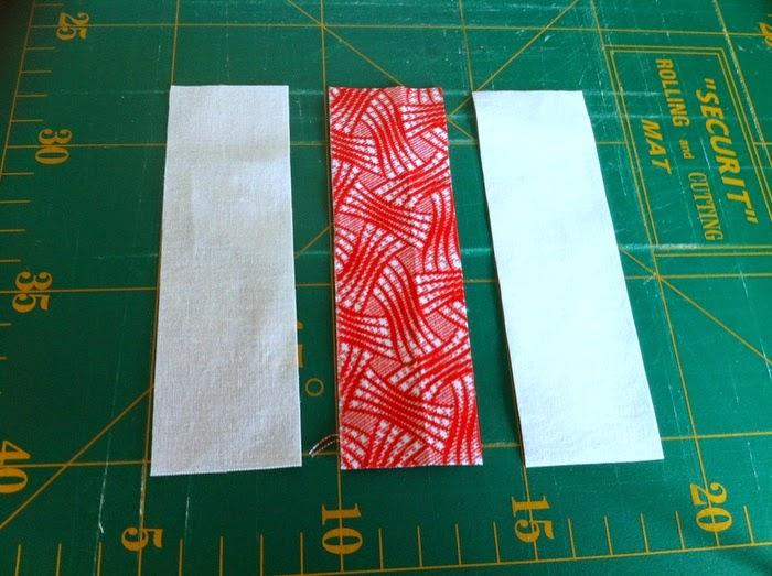 gesneden stroken voor patchwork